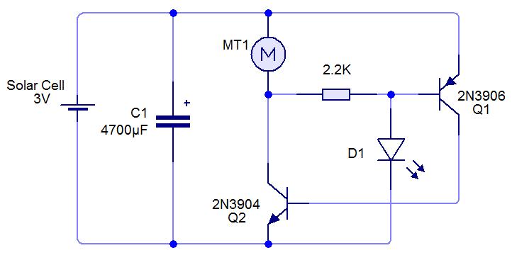Circuíto microrobot beam-zero