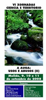 A auga nas VI Xornadas ciencia e territorio