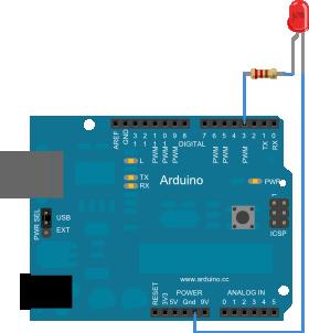 Arduino. Exemplo 6: Saída analóxica
