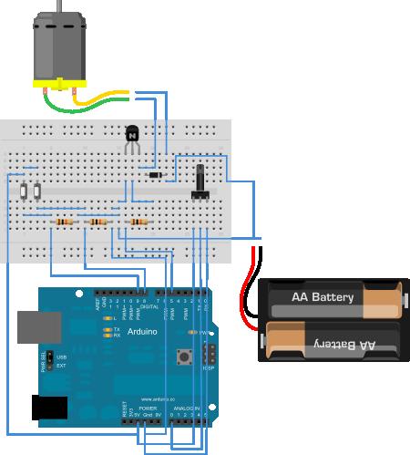 Arduino. Exemplo 8: Control de motor por PWM