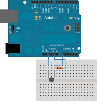 Arduino. Exemplo 9: Lectura dun sensor térmico NTC