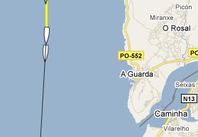 localización dun barco