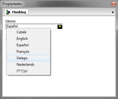 Minibloq en Galego