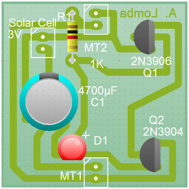 Imaxe 3d da PCB