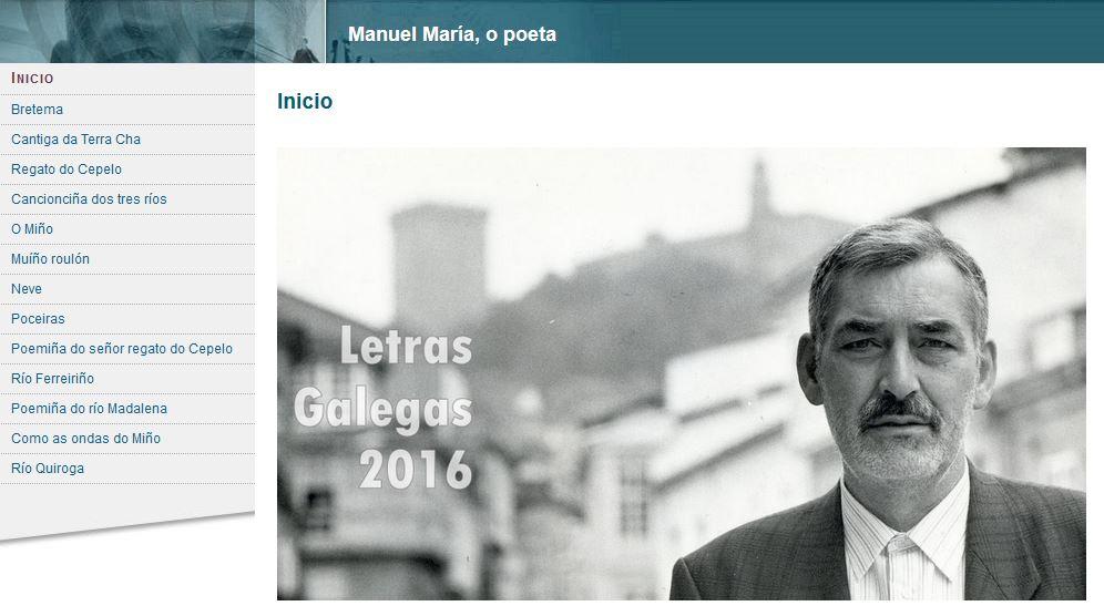 Manuel María. Poesía de auga (conversión .swf a html5)